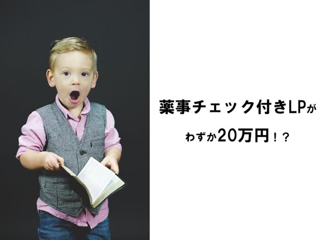 【薬事チェック付き】ランディングページ制作がわずか20万円!?
